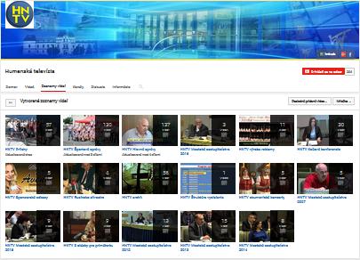 Archív na oficiálnej YouTube stránke HNTV